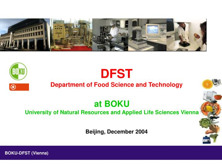 Dfst department of food science and technology