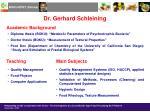 dr gerhard schleining