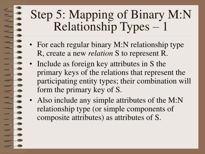 Step 5: Mapping of Binary M:N Relationship Types – 1