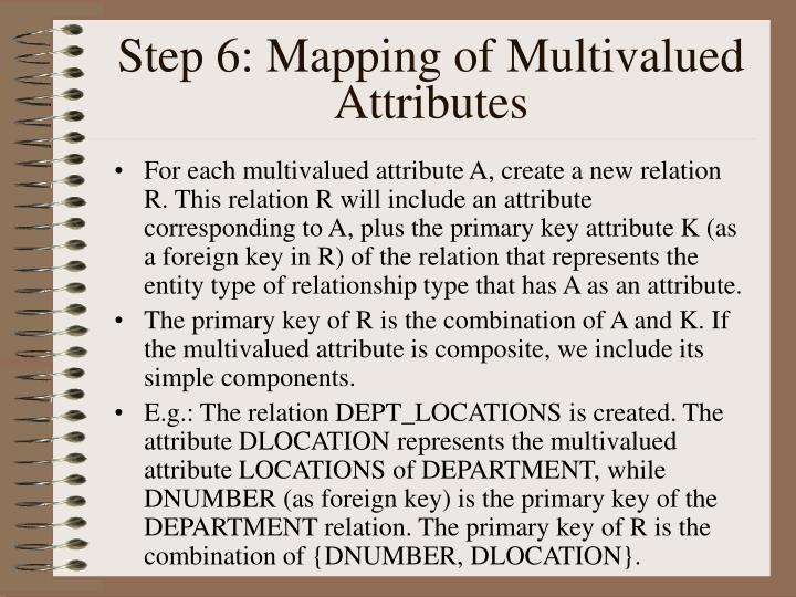 Step 6: Mapping of Multivalued Attributes