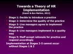 towards a theory of hr implementation guest bos nehles 2012
