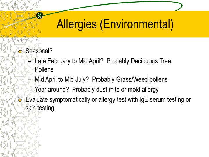 Allergies (Environmental)