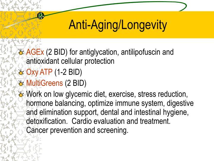 Anti-Aging/Longevity