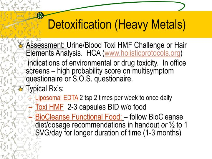 Detoxification (Heavy Metals)