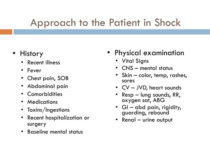 Approach to the Patient in Shock