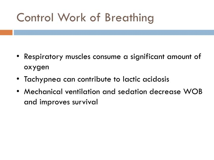 Control Work of Breathing