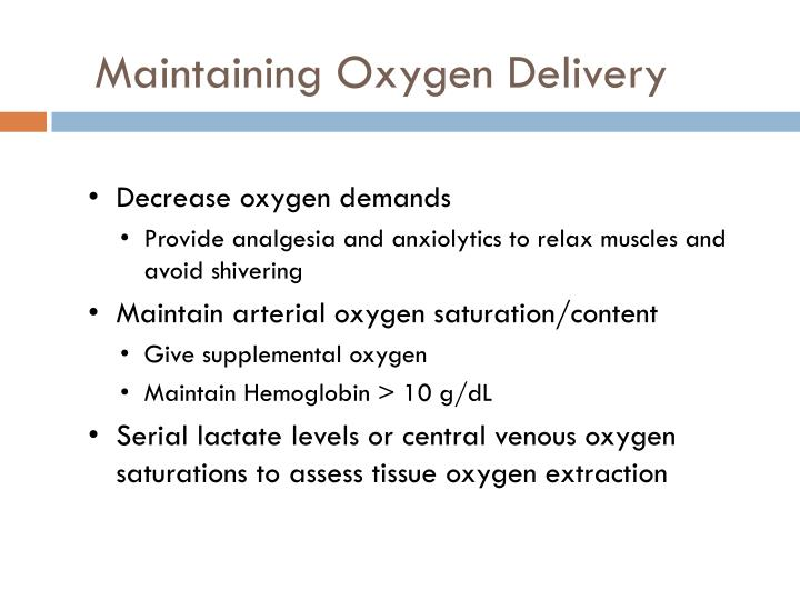 Maintaining Oxygen Delivery