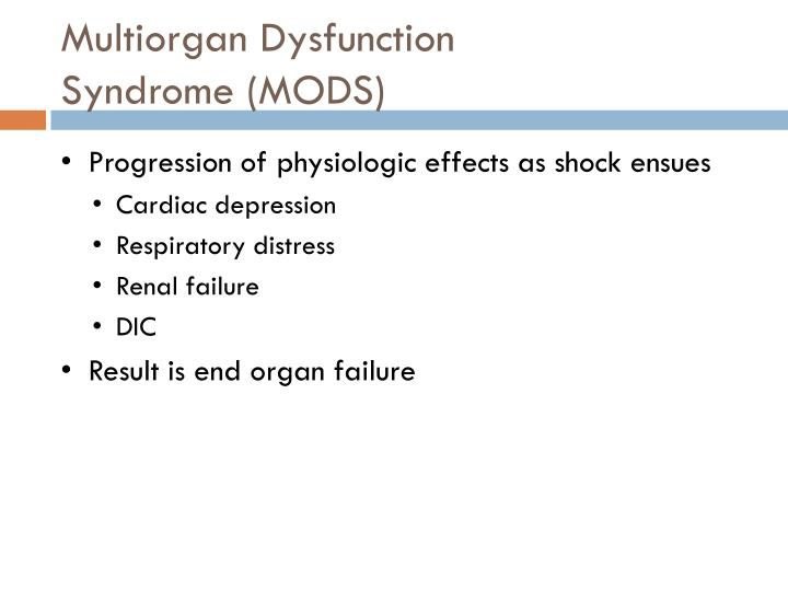 Multiorgan Dysfunction