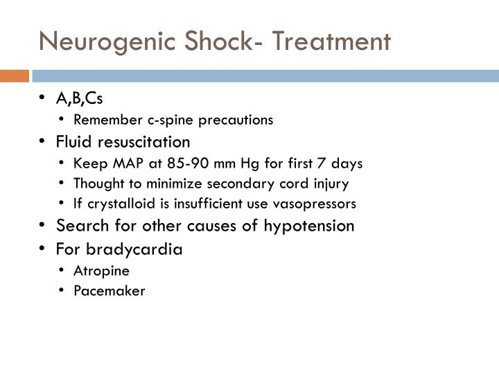 Neurogenic Shock- Treatment