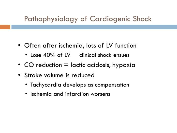 Pathophysiology of Cardiogenic Shock