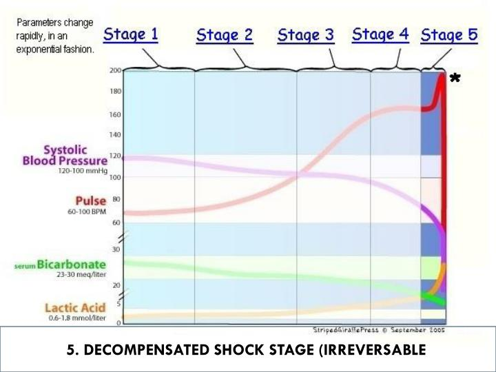 5. DECOMPENSATED SHOCK STAGE (IRREVERSABLE