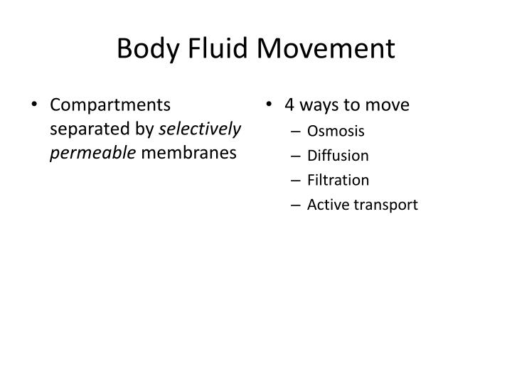 Body Fluid Movement
