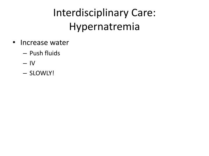 Interdisciplinary Care: