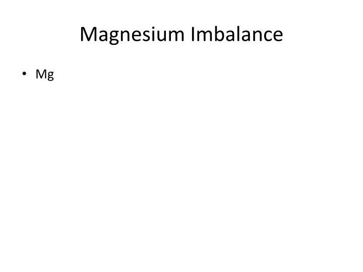 Magnesium Imbalance