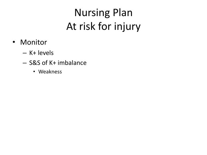 Nursing Plan
