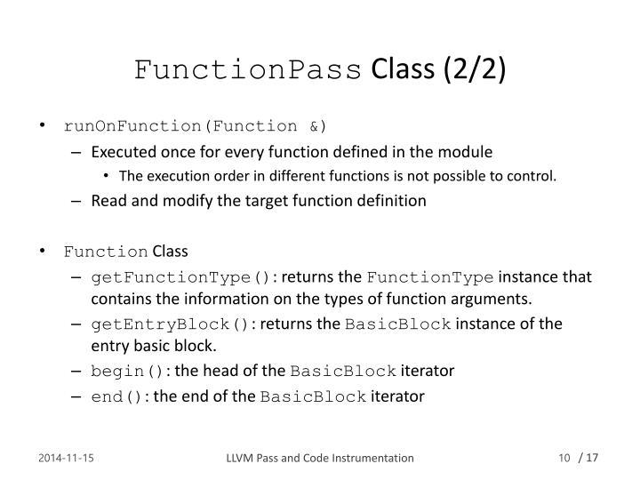 FunctionPass