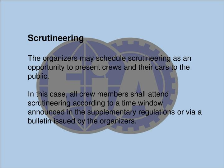 Scrutineering