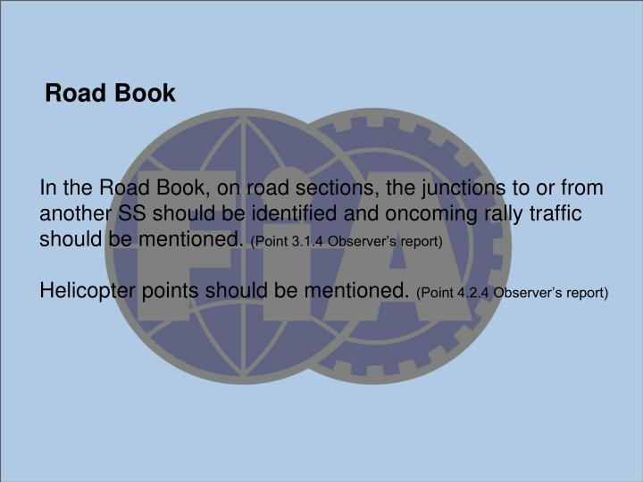 In the Road Book,