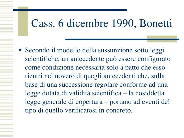 Cass. 6 dicembre 1990, Bonetti