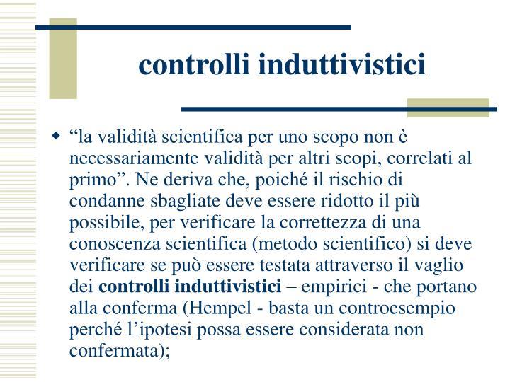 controlli induttivistici