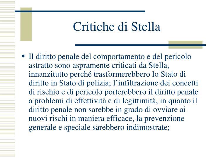 Critiche di Stella