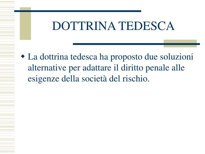 DOTTRINA TEDESCA