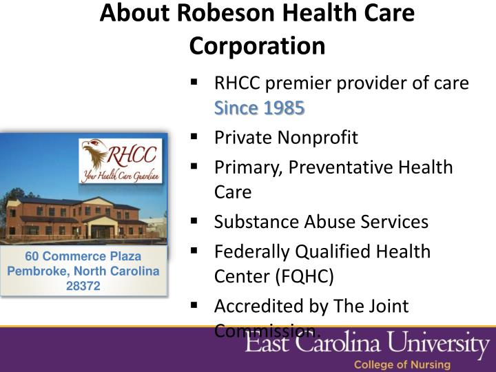 About Robeson Health Care Corporation