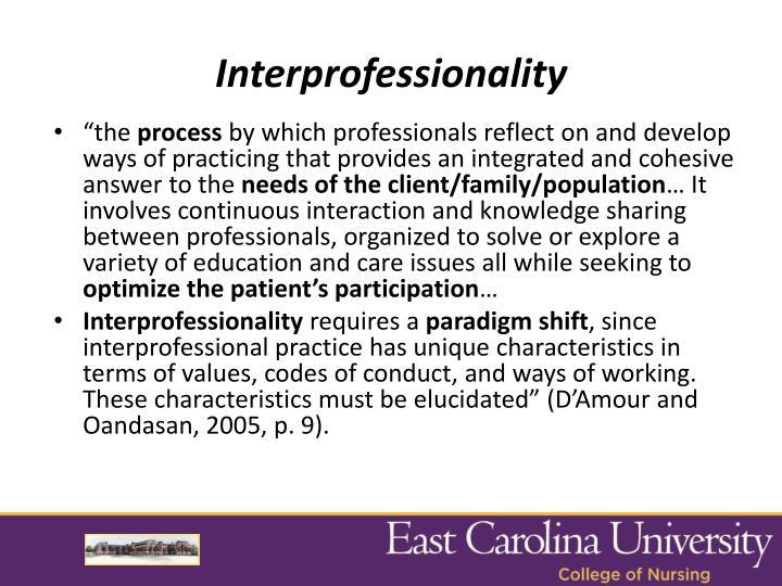 Interprofessionality