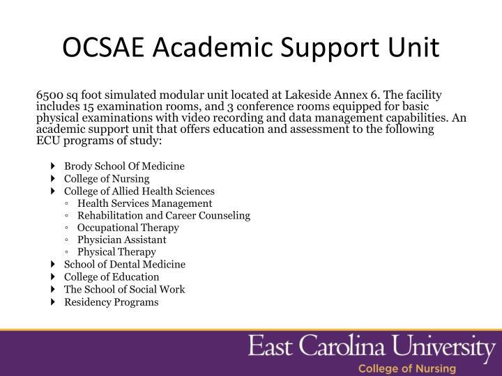 OCSAE Academic Support Unit