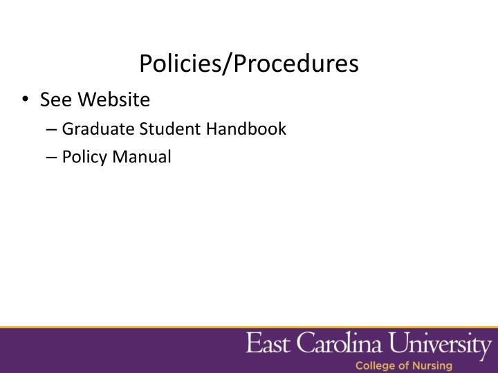 Policies/Procedures