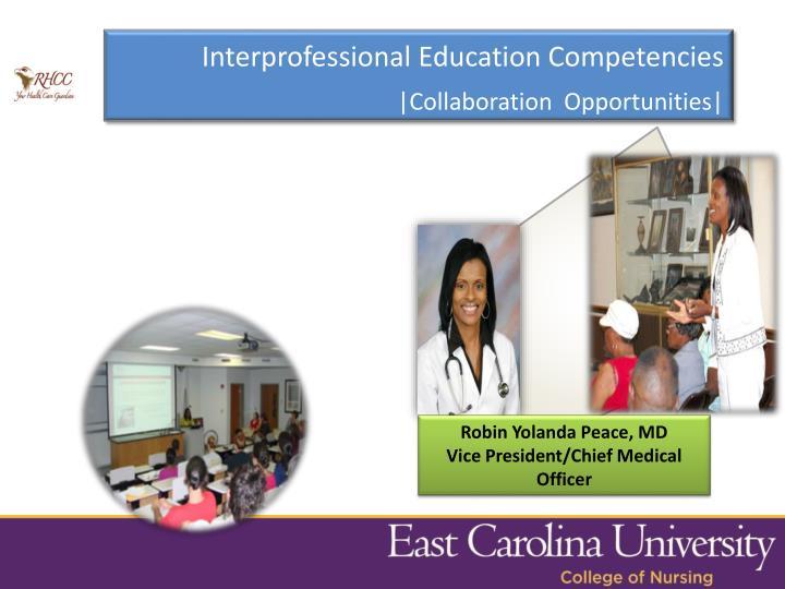 Interprofessional Education Competencies