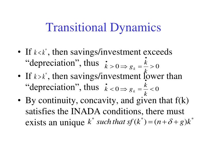 Transitional Dynamics