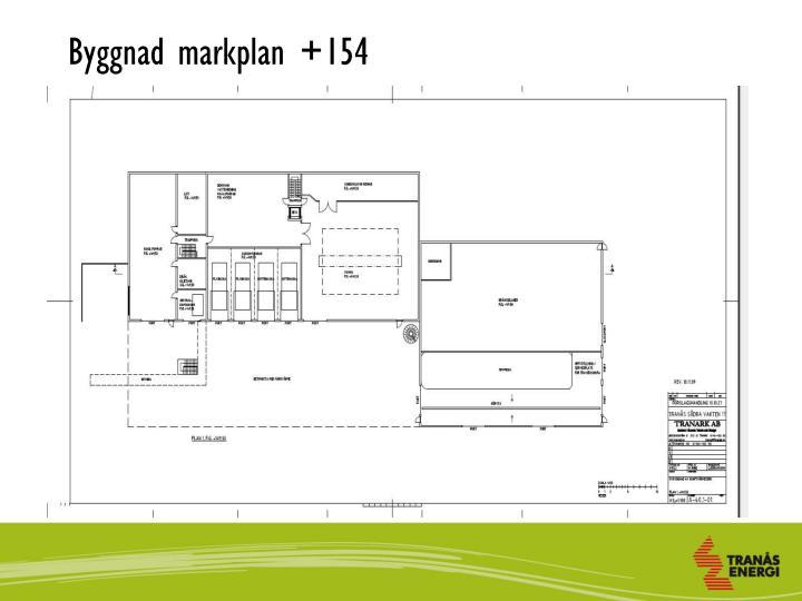 Byggnad markplan +154