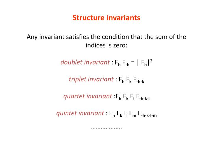 Structure invariants