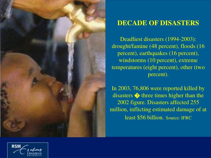 DECADE OF DISASTERS