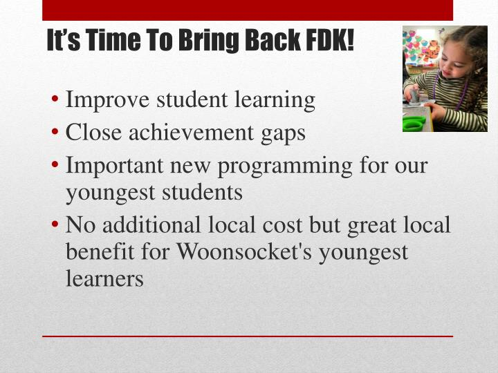 It's Time To Bring Back FDK!