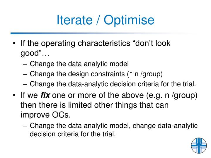 Iterate / Optimise