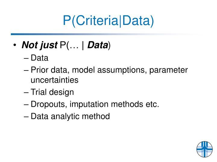 P(Criteria|Data)
