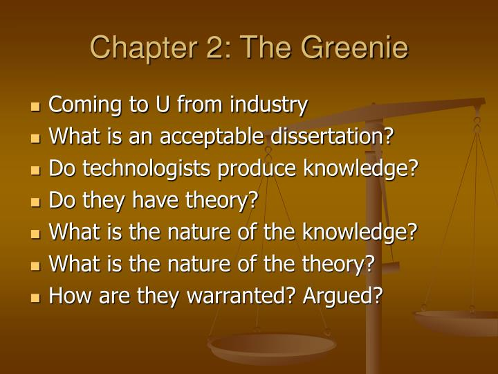 Chapter 2: The Greenie