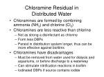 chloramine residual in distributed water