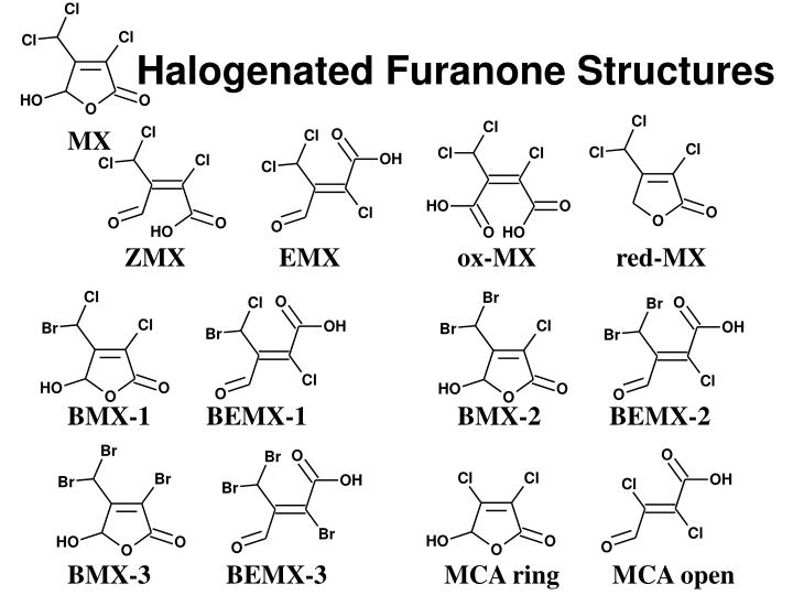 Halogenated Furanone Structures