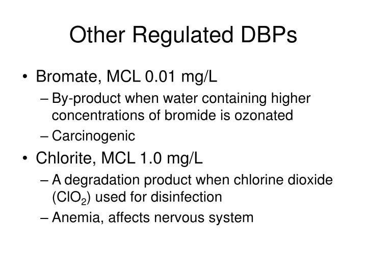 Other Regulated DBPs