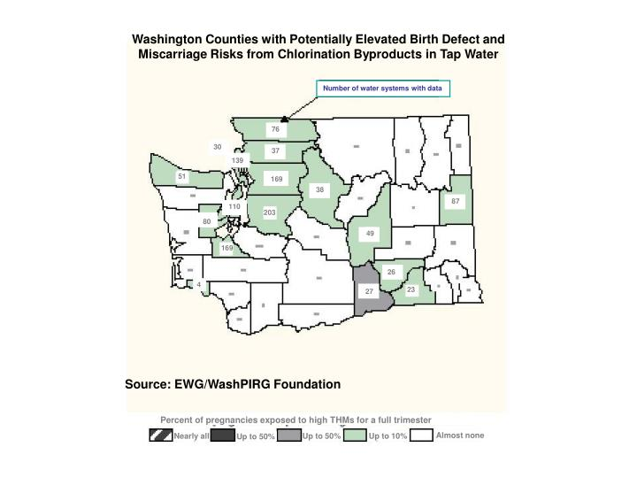Washington Counties with Potentially Elevated Birth Defect and