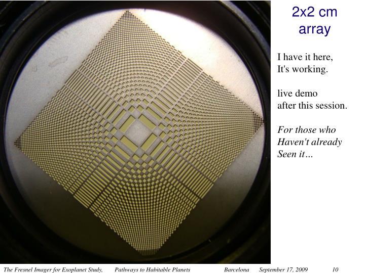 2x2 cm array