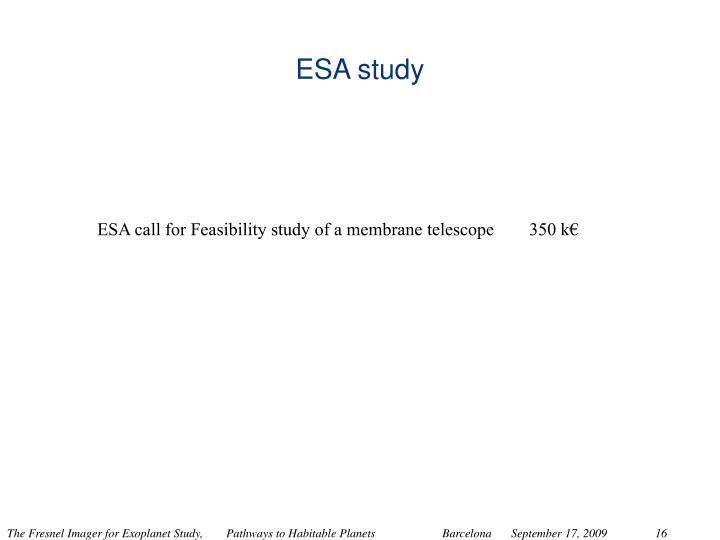 ESA study