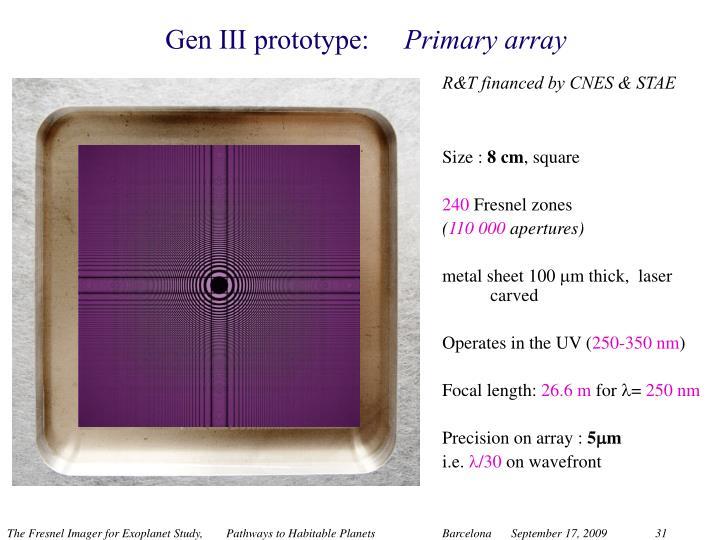 Gen III prototype: