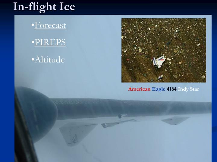 In-flight Ice