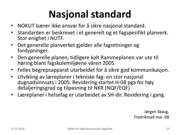 Nasjonal standard