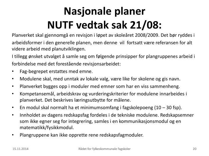 Nasjonale planer