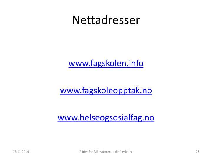 Nettadresser